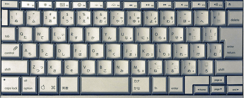 Apple MacBook Pro Japanese keyboard